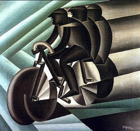 Il ciclista di Depero