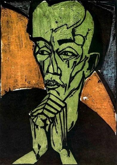 Erich Heckel, Autoritratto, 1919